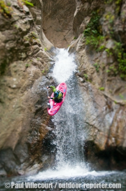 "112 - Extreme kayaking in the ""LLech"" canyon, France."