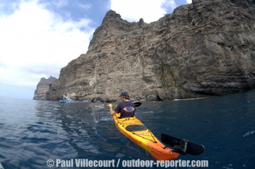34 - Kayak de mer aux Canaries. | Gran Canaria Island : paddling on the moon !