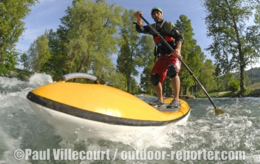 58 - Le Streamboard : stand up paddle version rivière. | The Streamboard : new stand up paddle river board.