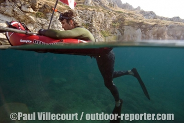 62 - Inflatable kayaking / French Riviera.
